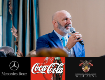 Dave Nassaney giving speech at Coke Mer Benz WestPoint