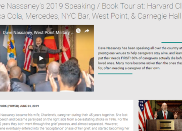 Dave Nassaney Speaks at: Coca Cola, Mercedes, NYC Bar, West Point, & Carnegie Hall, 2019