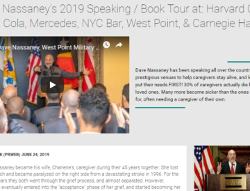 Press Release: Dave Nassaney Speaks at: Coca Cola, Mercedes, NYC Bar, West Point, & Carnegie Hall, 2019